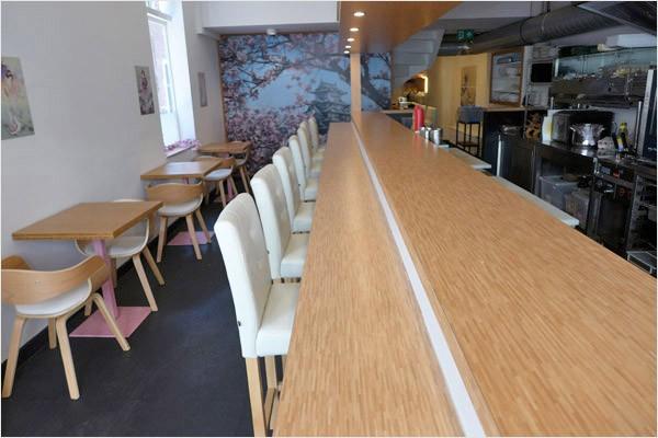 Restaurant (Japans) gelegen in het centrum van Leiden