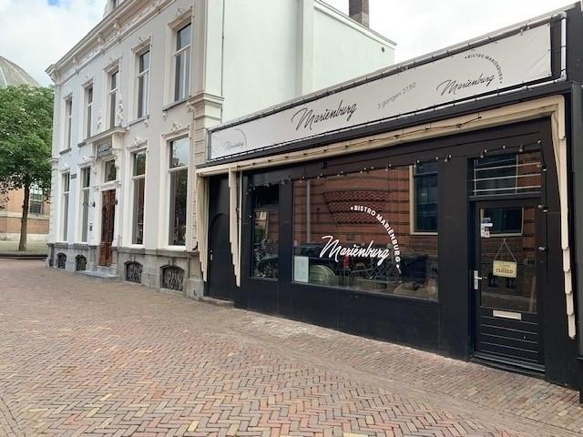 """Te koop aangeboden: Bistro """"Marienburg"""" gelegen aan de Marienburgstraat 2 in het centrum van Arnhem"""