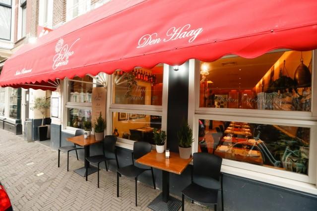 Te koop aangeboden Italiaans restaurant VINO & CUCINA, Parkstraat 37, Den Haag.